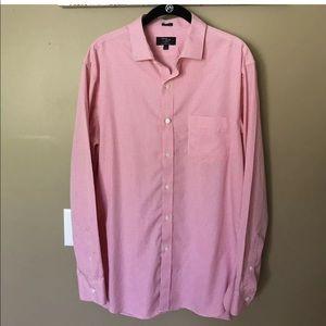 3/$10 J. Crew Mens Pink Checked Button Shirt